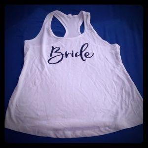 Racerback Bride Tank Top